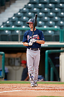 Atlanta Braves Andrew Moritz (91) at bat during a Florida Instructional League game against the Canadian Junior National Team on October 9, 2018 at the ESPN Wide World of Sports Complex in Orlando, Florida.  (Mike Janes/Four Seam Images)
