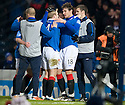 :: STEVEN NAISMITH IS CONGRATULATED BY NIKICA JELAVIC AFTER HE HEADS HOME THE WINNER ::