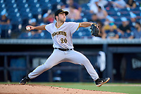Bradenton Marauders pitcher Logan Hofmann (26) during Game Three of the Low-A Southeast Championship Series against the Tampa Tarpons on September 24, 2021 at George M. Steinbrenner Field in Tampa, Florida.  (Mike Janes/Four Seam Images)