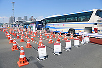 TOKYO, JAPAN - JULY 19 : The Media Transport Mall pictured prior to the Tokyo 2020 Summer Olympic Games on July 19, 2021 in Tokyo, Japan, 19/07/2021. Media from overseas are not allowed to go into public places during the first fourteen days of their stay in Japan. The only way to get a glimpse of the city is from a vehicle transporting the media from hotel to venue<br /> Photo Photonews / Panoramic / Insidefoto <br /> ITALY ONLY