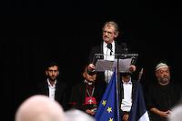 Le maire Hubert Wulfranc - La ville de Saint-Etienne du Rouvray a organisé au parc omnisport Youri Gagarine une cérémonie en hommage au père Jacques Hamel, assassine dans son eglise par deux djihadistes.