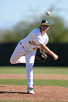 Oakland Athletics pitcher Sam Bragg (41) during an Instructional League game against the Chicago Cubs on October 16, 2013 at Papago Park Baseball Complex in Phoenix, Arizona.  (Mike Janes/Four Seam Images)