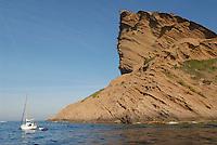 - southern France , the coast at Eagle Cape, between La Ciotat and Cassis villages<br /> <br /> - Francia del sud, la costa di Capo dell'Aquila, fra i villaggi di La Ciotat e Cassis