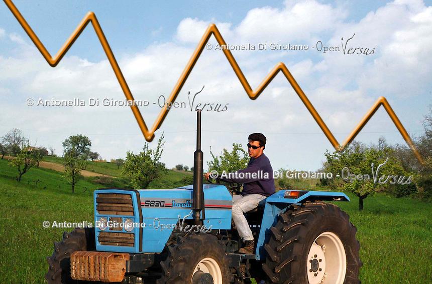 Crisi economica in agricoltura.Economic farmer crisis.......