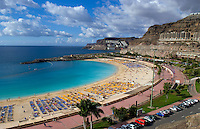Beautiful beach cove at Amadores near Port of Mogan in Gran Canaria on Canary Islands, Spain