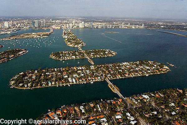 aerial photograph Venetian Islands Rivo Alto Di Lido Marino San Marco island Biscayne Bay Miami Dade county Florida