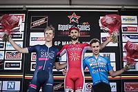 Podium:<br /> <br /> 1st place: Nacer Bouhanni (FRA/Cofidis)<br /> 2nd place: Cees Bol (NED/SEG Racing Academy)<br /> 3th place: Dries De Bondt (BEL/Veranda's Willems-Crelan)<br /> <br /> <br /> GP Marcel Kint 2018 <br /> Kortrijk > Zwevegem 174.8km (BELGIUM)