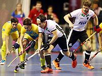 Almat Yerkin, Dan Nguyen, Martin Haener /   /        /   <br /> / Sport / Hockey Hnhockey / World Championships Weltmeisterschaft  /  2017/2018 / 07.02.2018 / GER BRGermany vs. Kasachstan *** Local Caption *** © pixathlon<br /> Contact: +49-40-22 63 02 60 , info@pixathlon.de