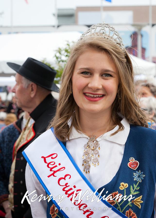 Miss Lief Erikson, 17th of May Festival and Parade, Ballard, Seattle, WA, USA.