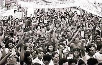 Enterro do líder sindical Gringo assassinado no sul do Pará.  Conceção do Araguaia-Pará-Brasil<br />1977<br />Foto: Lúcio Flávio Pinto/ Interfoto<br />Negativo PxB nº 5685 T4 FC 28