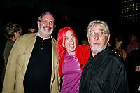 File Photo, Montreal (Qc) CANADA<br /> Brian De Palma (L) Chloee Sainte-Marie (M),  Gilles Carle (R) at the Premiere of PUDDING CHOMEUR during the 1999 World Film Festival.<br /> <br /> Brian De Palma, Chlo»e Sainte-Marie  Gilles Carle   r la Premicre de PUDDING CHOMEUR lors du Festival des Films du Monde 1999<br /> Photo : (c) 1999. Pierre Rousel