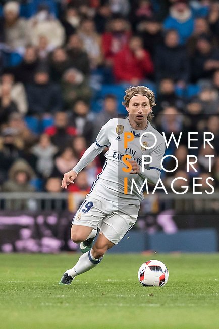 Luka Modric of Real Madrid in action during their Copa del Rey 2016-17 Quarter-final match between Real Madrid and Celta de Vigo at the Santiago Bernabéu Stadium on 18 January 2017 in Madrid, Spain. Photo by Diego Gonzalez Souto / Power Sport Images