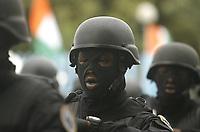 Abidjan, 7 août 2017 - 57e anniversaire de la Répubrique de Côte d'Ivoire - Défilé militaire : une troupe de CCDO ( coordination des opérations décisionnelles ) au palais de la Présidence au plateau. # 57E FETE DE L'INDEPENDANCE DE LA COTE D'IVOIRE