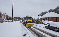 Grit Truck clears the roads - Snowfall in High Wycombe, Buckinghamshire on 1 February 2019. Photo by Andy Rowland.