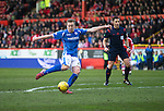 Aberdeen v St Johnstone…27.02.16   SPFL   Pittodrie, Aberdeen<br />Scott Brown shoots wide<br />Picture by Graeme Hart.<br />Copyright Perthshire Picture Agency<br />Tel: 01738 623350  Mobile: 07990 594431