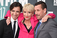 "director, Noah Baumbach, Emma Thompson and Adam Sandler<br /> arriving for the London Film Festival 2017 screening of ""The Meyerowitz Stories"" at the Embankment Gardens Cinema, London<br /> <br /> <br /> ©Ash Knotek  D3319  06/10/2017"
