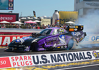 Sep 5, 2020; Clermont, Indiana, United States; NHRA funny car driver Jack Beckman during qualifying for the US Nationals at Lucas Oil Raceway. Mandatory Credit: Mark J. Rebilas-USA TODAY Sports