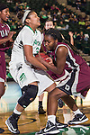 North Texas Mean Green forward Alexis Hyder (33) in action during the game between the Arkansas Little Rock Trojans and the North Texas Mean Green at the Super Pit arena in Denton, Texas. UALR defeats UNT 52 to 48...