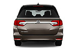 Straight rear view of 2019 Honda Odyssey EX-L 5 Door Minivan Rear View  stock images