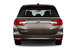 Straight rear view of 2019 Honda Odyssey EX-L 5 Door Minivan Rear View  stock images