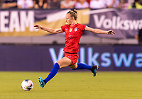 PHILADELPHIA, PA - AUGUST 29: Becky Sauerbrunn #4 of the United States crosses the ball during a game between Portugal and the USWNT at Lincoln Financial Field on August 29, 2019 in Philadelphia, PA.