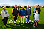 Members of Austin Stacks Hurling and Football club who welcomed the Meath senior hurlers on Saturday evening. L to r: <br /> Adrienne McLoughlin, Billy Ryle, Brían Cable, Jim Naughton, Ollie, Michael and John Broughton.