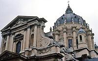 Paris: Val de Grace--detail of dome. Photo '90.