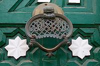 "Tripoli, Libya - Door Knocker, Gurgi Mosque, 19th. Century, Tripoli Medina (Old City).  ""There is no God but God."""
