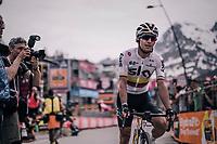 Sergio Henao (COL/SKY) crossing the finish line<br /> <br /> stage 20: Susa - Cervinia (214km)<br /> 101th Giro d'Italia 2018