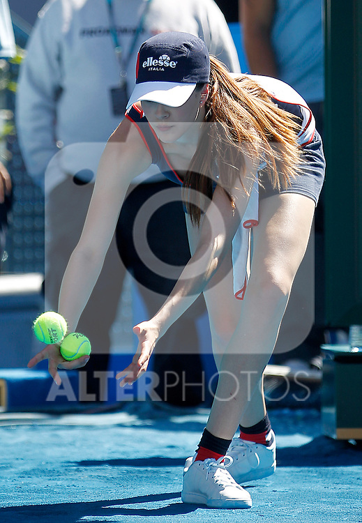 Model ball gril during Madrid Open Tennis 2012 Match.May, 9, 2012(ALTERPHOTOS/ALFAQUI/Acero)