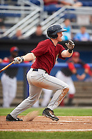 Mahoning Valley Scrappers third baseman Austin Fisher (7) at bat during a game against the Batavia Muckdogs on June 22, 2015 at Dwyer Stadium in Batavia, New York.  Mahoning Valley defeated Batavia 15-11.  (Mike Janes/Four Seam Images)