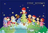 Simonetta, CHRISTMAS CHILDREN, naive, paintings, ITDPNC0015,#XK# Weihnachten, Navidad, illustrations, pinturas