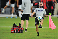 WASHINGTON, DC - SEPTEMBER 27: Richie Williams New England Revolution Assistant Head Coach during a game between New England Revolution and D.C. United at Audi Field on September 27, 2020 in Washington, DC.