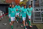 17.10.2020, Schwarzwald Stadion, Freiburg, GER, 1.FBL, SC Freiburg vs SV Werder Bremen<br /> <br /> im Bild / picture shows<br /> Leonardo Bittencourt  (Werder Bremen #10)<br /> Milos Veljkovic (Werder Bremen #13)<br /> Theodor Gebre Selassie (Werder Bremen #23)<br /> Ludwig Augustinsson (Werder Bremen #05)<br /> Joshua Sargent (Werder Bremen #19)<br /> Maximilian Eggestein (Werder Bremen #35)<br /> Christian Groß / Gross (Werder Bremen #36)<br /> Ömer / Oemer Toprak (Werder Bremen #21)<br /> <br /> Foto © nordphoto / Bratic<br /> <br /> DFL REGULATIONS PROHIBIT ANY USE OF PHOTOGRAPHS AS IMAGE SEQUENCES AND/OR QUASI-VIDEO.