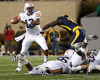 October 23, 2008: Auburn quarterback Kodi Burns (18). The West Virginia Mountaineers defeated the Auburn Tigers 34-17 on October 23, 2008 at Mountaineer Field, Morgantown, West Virginia.