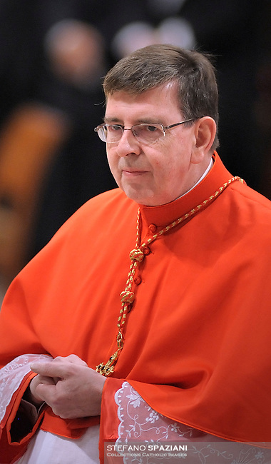 Newly-elevated Swiss Cardinal Kurt Koch, who is one of the 24 new cardinals installed by Pope Benedict XVI (not pictured) during the Consistory ceremony in Saint Peter's Basilica at the Vatican, 20 November 2010. Reports state that Pope Benedict XVI installed 24 new Roman Catholic cardinals from around the world on 20 November 2010 in his latest batch of appointments that could include his successor as leader of the 1.2 billion member church.