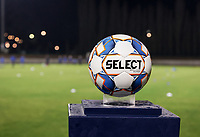 Match ball pictured before a female soccer game between FC Femina White Star Woluwe and AA Gent Ladies on the 13 th matchday of the 2020 - 2021 season of Belgian Scooore Womens Super League , friday 5 th of February 2021  in Woluwe , Belgium . PHOTO SPORTPIX.BE | SPP | SEVIL OKTEM