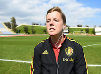 20190306 - LARNACA , CYPRUS :  Belgian Laura Deloose pictured during a women's soccer game between  Austria and the Belgian Red Flames  , on wednesday 6 March 2019 at the GSZ  Stadium in Larnaca , Cyprus . This is the last game for both teams during the Cyprus Womens Cup 2019 which decides places 3 or 4, The Cyprus Women's cup is a prestigious women soccer tournament as a preparation on the Uefa Women's Euro 2021 qualification duels. PHOTO SPORTPIX.BE | DAVID CATRY