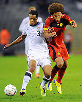 USA's Timmy Chandler (l) and Belgium's Axel Witsel fight for the ball during the friendly match Belgium vs USA at King Baudoin stadium in Brussels, Belgium on September 06th, 2011.