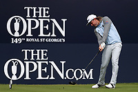 16th July 2021; Royal St Georges Golf Club, Sandwich, Kent, England; The Open Championship Tour Golf, Day Two; Cameron Smith (AUS) hits his driver from the tee at the 1st hole