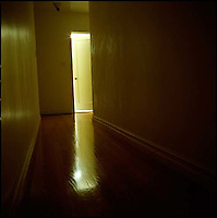 Light coming from within room with partially opened door<br />