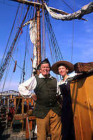Boston Massachusetts MA USA Boston Tea Party Actors for Tourists on ship.