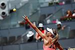 Maria Sharapova from Russia during her Madrid Open tennis tournament match against Svetlana Kuznetsova from Russia in Madrid, Spain. May 08, 2015. (ALTERPHOTOS/Victor Blanco)