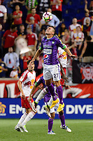 Harrison, NJ - Wednesday Aug. 03, 2016: Fabian Castillo during a CONCACAF Champions League match between the New York Red Bulls and Antigua at Red Bull Arena.