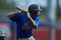 Colby Guy (10) of Legion Collegiate Academy (NC) playing for the New York Mets scout team during game four of the South Atlantic Border Battle at Truist Point on September 27, 2020 in High Pont, NC. (Brian Westerholt/Four Seam Images)