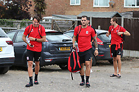 Ramsgate players arrive at the ground in their match kit ahead of kick-off during Ramsgate vs Folkestone Invicta, Friendly Match Football at Southwood Stadium on 1st August 2020