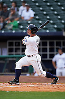 NW Arkansas Naturals catcher Micah Gibbs (7) at bat during a game against the San Antonio Missions on May 31, 2015 at Arvest Ballpark in Springdale, Arkansas.  NW Arkansas defeated San Antonio 3-1.  (Mike Janes/Four Seam Images)