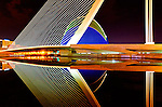 """""""Ciudad de las Artes y de las Ciencias"""", Valencia, Spain. Part of the series that won First Prize in """"Night Photography"""" category, and Second Prize in """"Architecture: Bridges"""" category, 2011 International Photography Awards, Non-professional."""