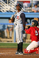 August 2nd 2008:  Quincy Latimore of the State College Spikes, Class-A affiliate of the Pittsburgh Pirates, during a game at Dwyer Stadium in Batavia, NY.  Photo by:  Mike Janes/Four Seam Images