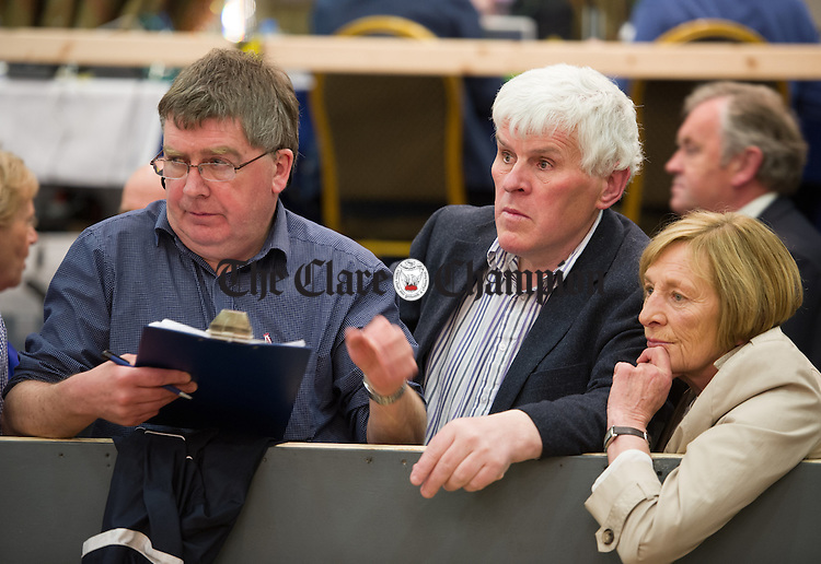 Fianna Fail's Pat Daly looks on during the election count at The West county Hotel, Ennis. Photograph by John Kelly.